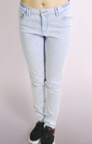 Skinny Jeans In Purple/Blue Snow Wash